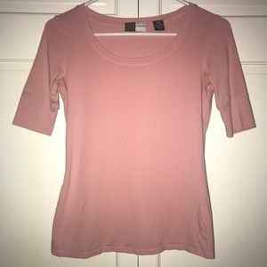 Saks Fifth Avenue Threads Pink Short Sleeve Top